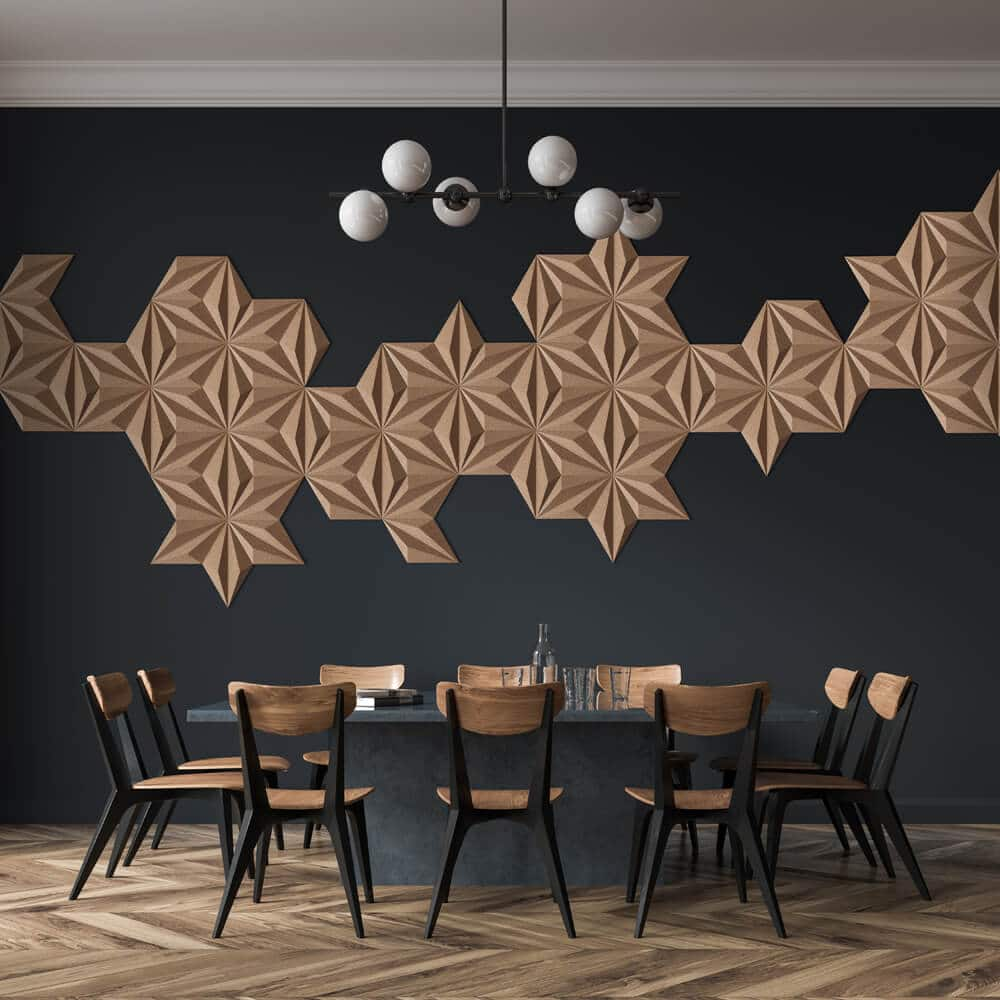 Corkbee Acoustic Cork Panels Linear