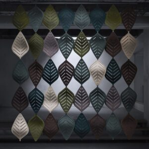 acoustic screens and dividers - Abstracta airleaf installation